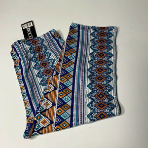 Docele Fashion Womens Geometric Tribal Leggings